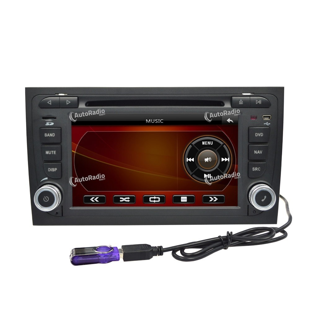 autoradio gps audi a4 7 inch screen bas prix. Black Bedroom Furniture Sets. Home Design Ideas