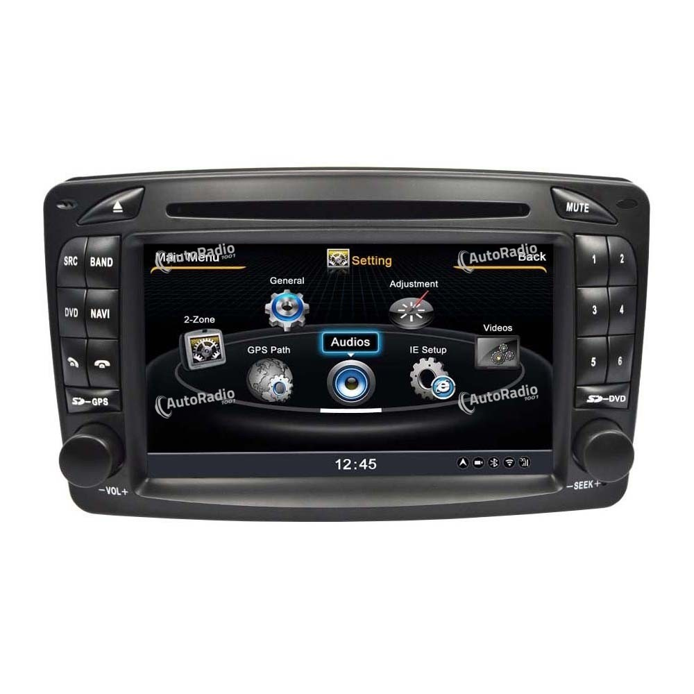 poste autoradio dvd gps mercedes benz class c w203 old. Black Bedroom Furniture Sets. Home Design Ideas