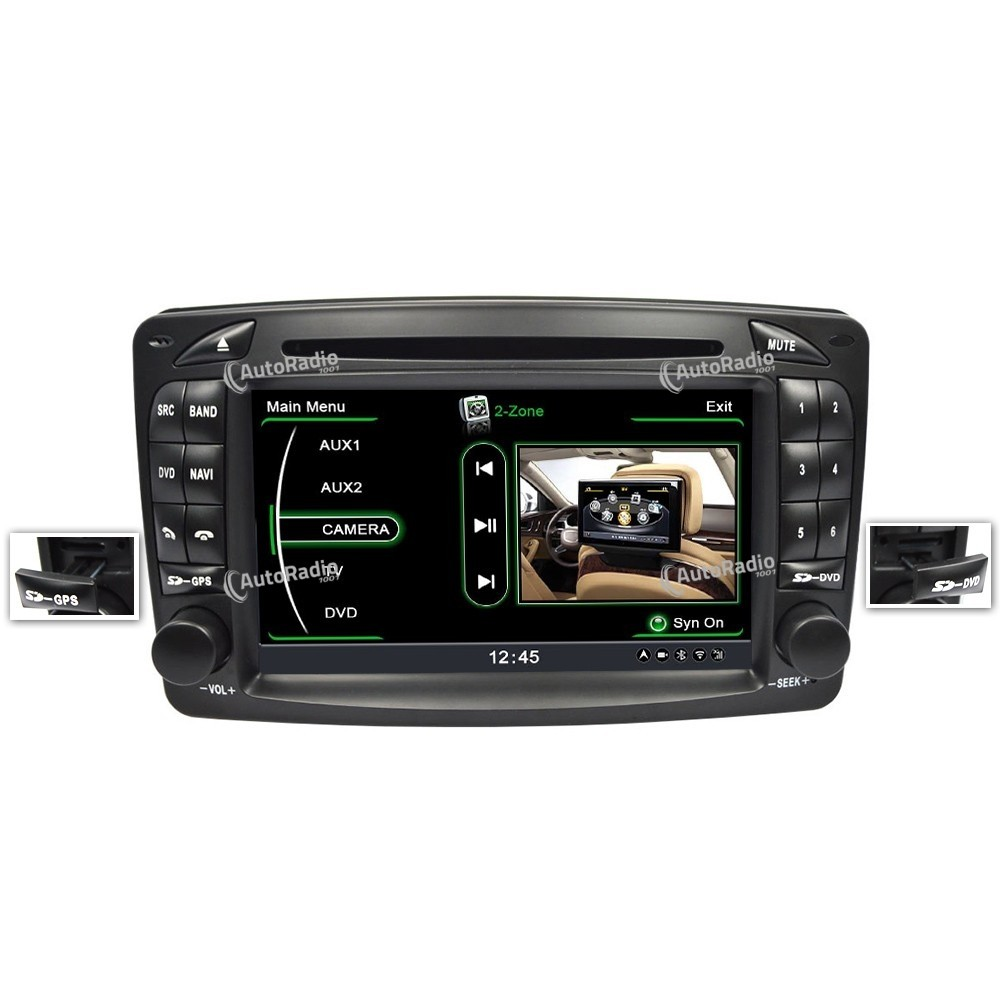 poste autoradio dvd gps mercedes benz class c w203 old version aux prix les plus bas sur notre. Black Bedroom Furniture Sets. Home Design Ideas