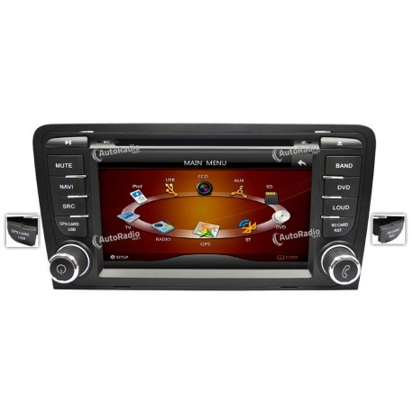 autoradio gps audi a3 7 inch screen bas prix. Black Bedroom Furniture Sets. Home Design Ideas