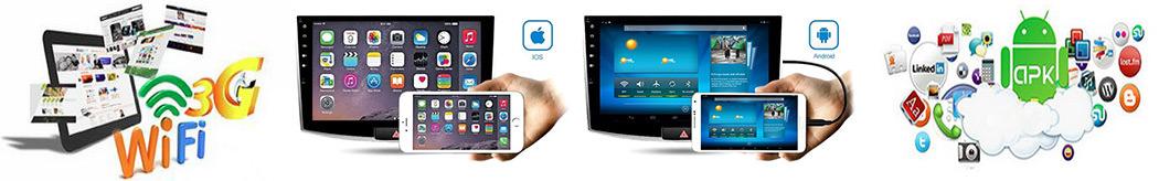 autoradio android 3G wifi mirrorlink
