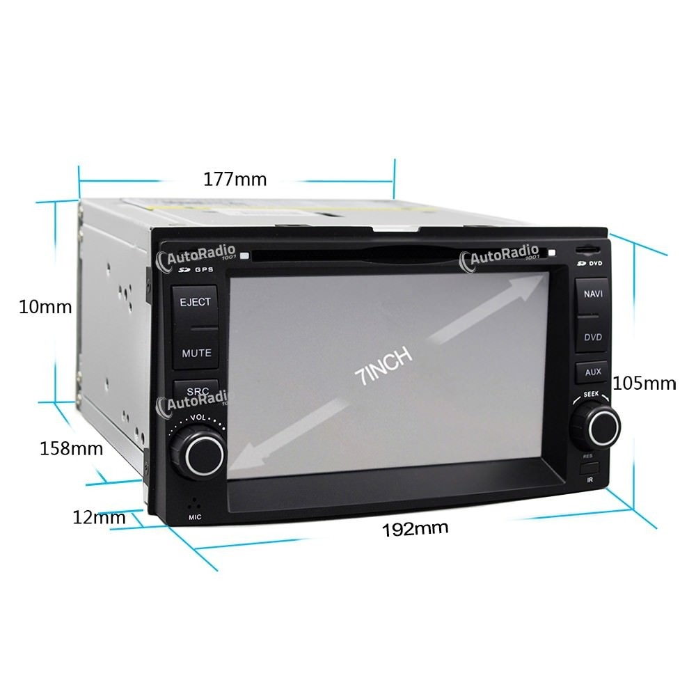android to iphone poste autoradio dvd gps kia universal car dvd kia aux 10076