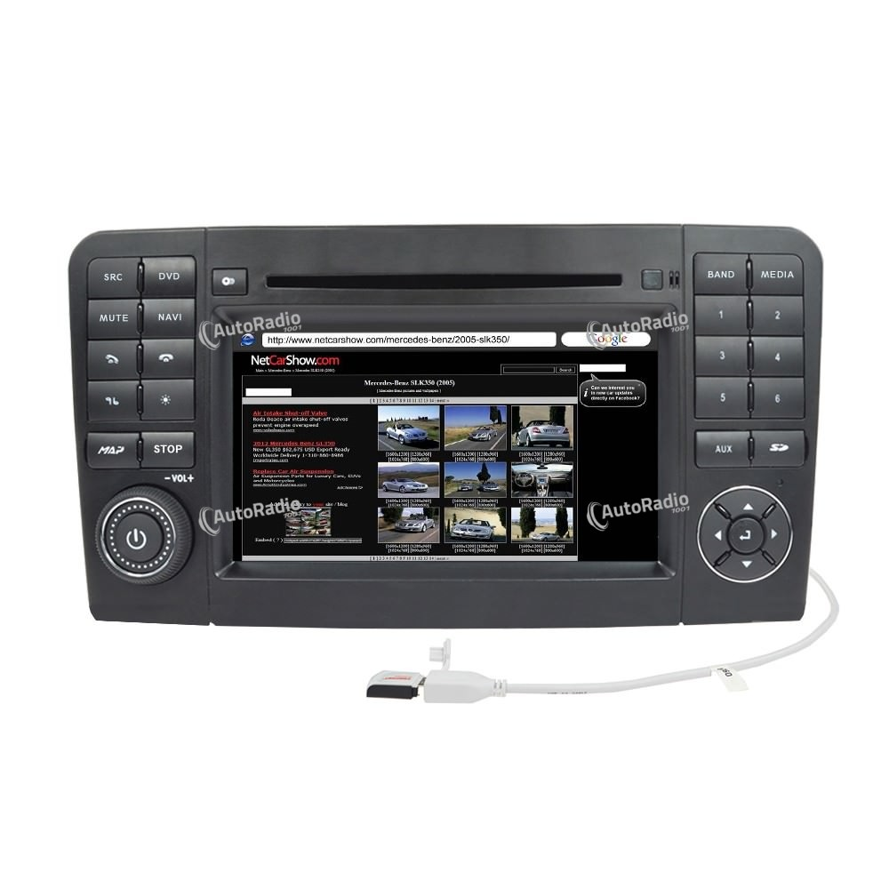 the latest car dvd gps mercedes benz ml w164 2005 2012. Black Bedroom Furniture Sets. Home Design Ideas