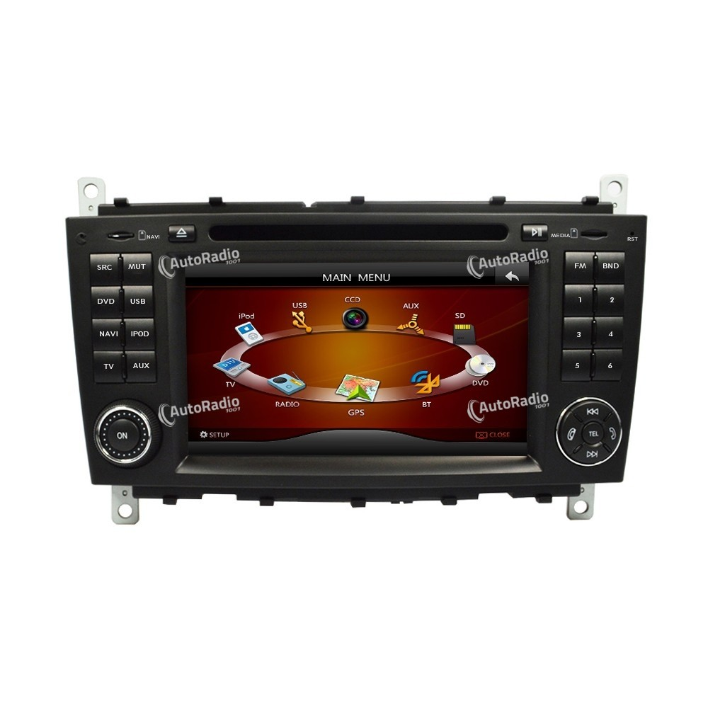 autoradio gps benz w203 2004 2007 7 inch screen a basso prezzo. Black Bedroom Furniture Sets. Home Design Ideas