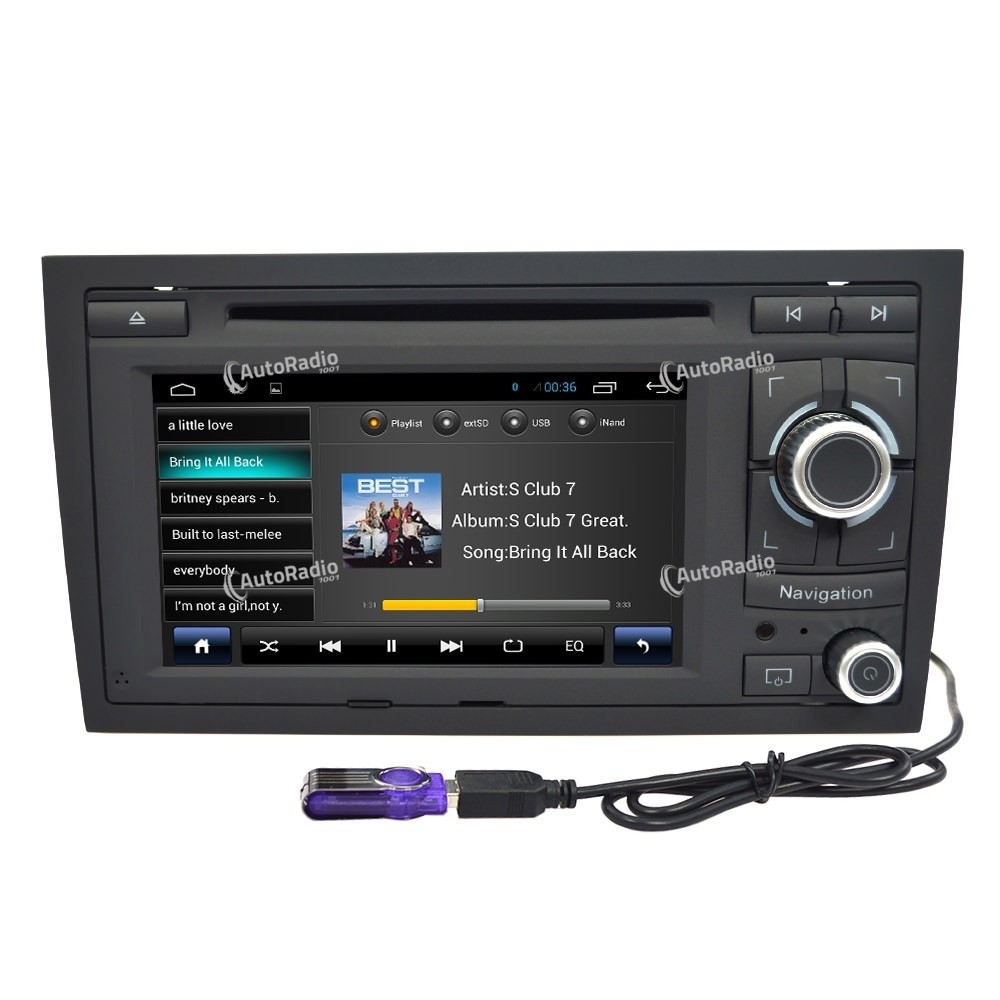 Audi A4 2002 Price: Android 4.4 Car DVD Audi A4 (2002-2005