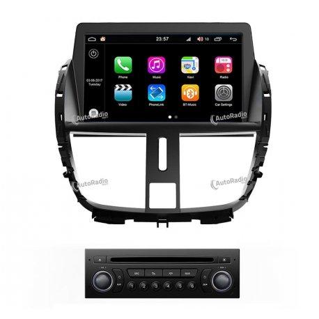 Autoradio GPS Android 8.0 Peugeot 207