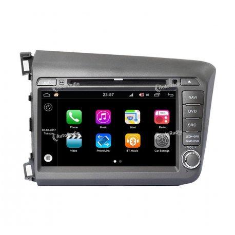 Autoradio GPS Android 8.0 Honda Civic 2012