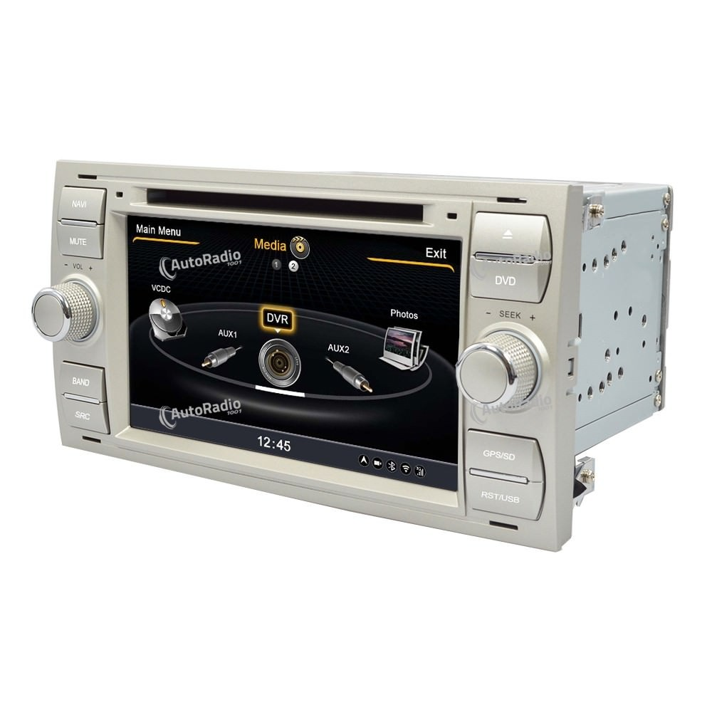 poste autoradio dvd gps ford focus black or silver aux. Black Bedroom Furniture Sets. Home Design Ideas