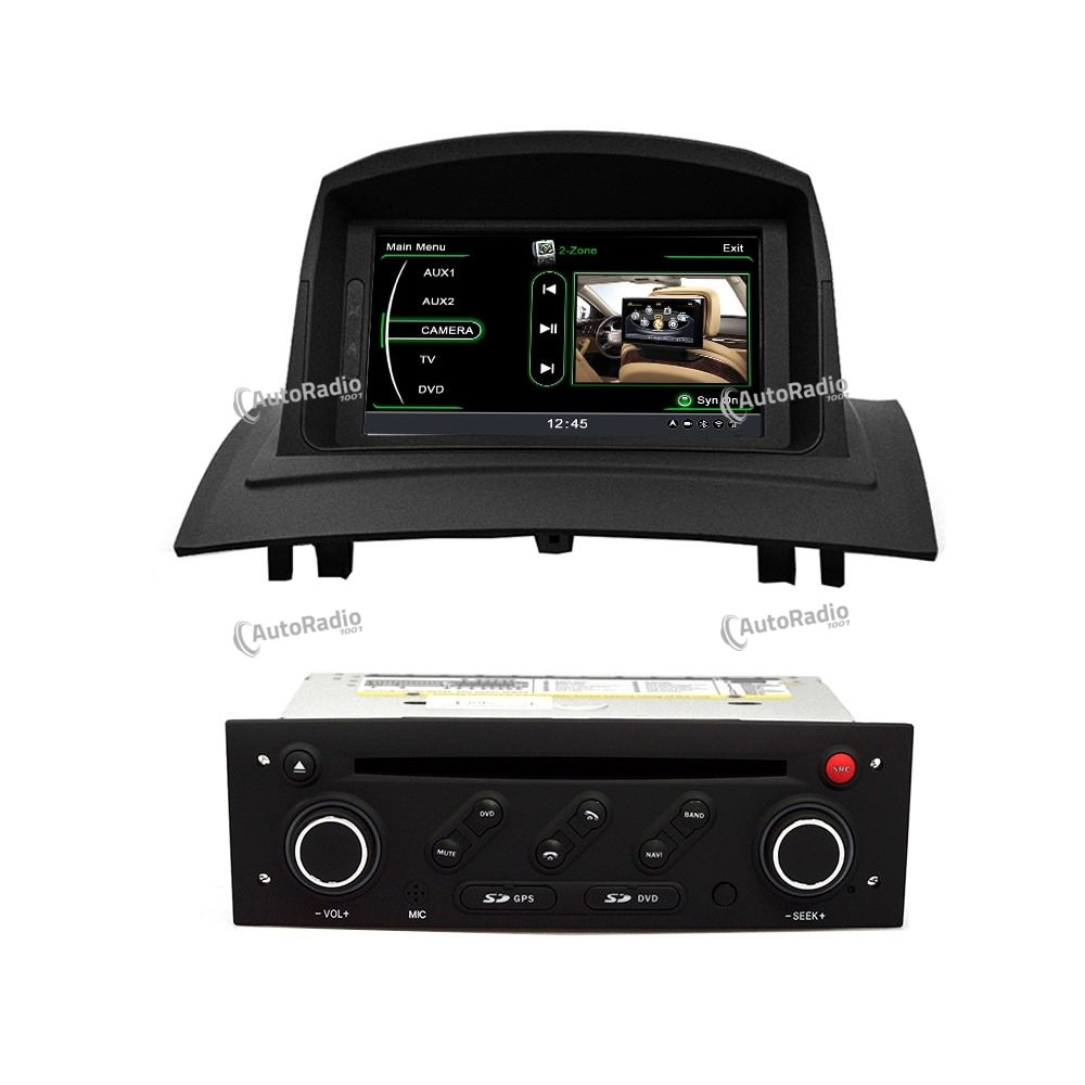 poste autoradio dvd gps renault megane 2 fluence 2002 2008 aux prix les plus bas sur notre bout. Black Bedroom Furniture Sets. Home Design Ideas